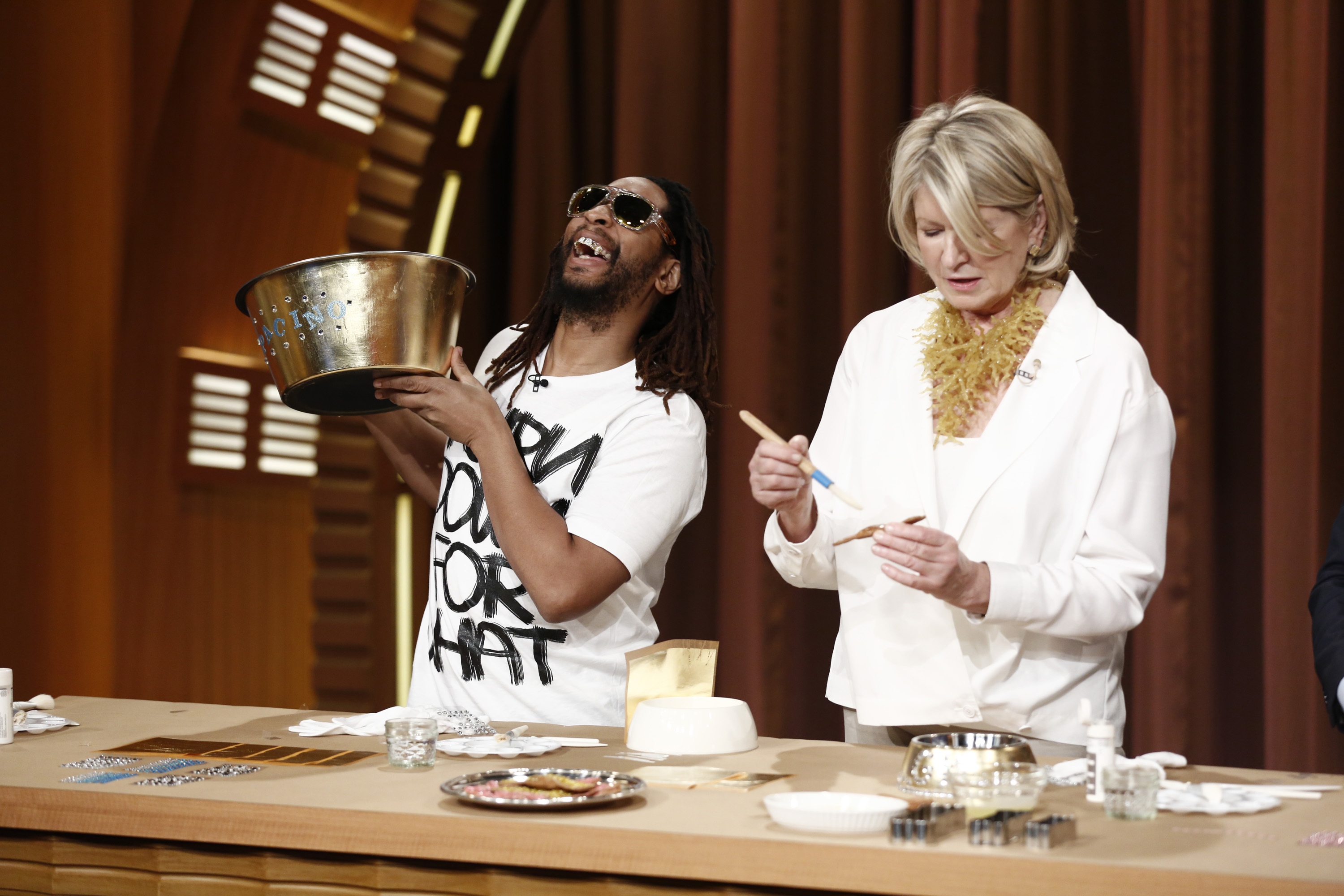 Lil Jon and Martha Stewart
