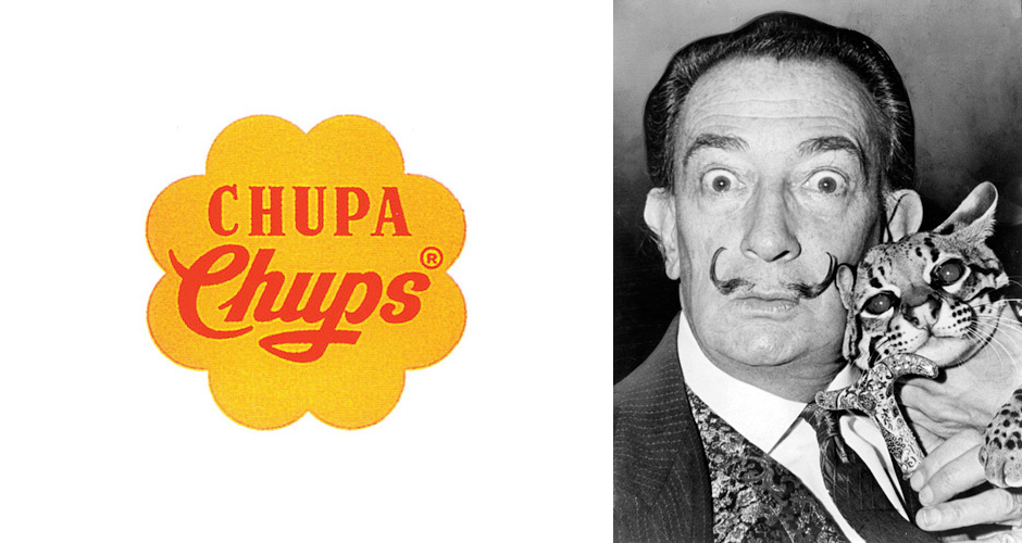 salvador dal237 designed the chupa chups lollipops logo