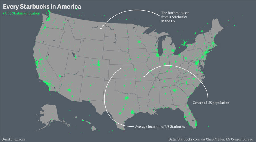 The Farthest Place From A Starbucks In The US Is Circle Montana - Montana in us map