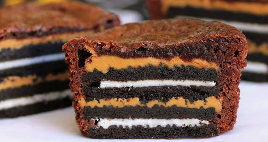 15 mashup desserts to make at home first we feast recipe recipe snobs chocolate and peanut are arguably one of the best combinations but this ridiculously easy dessert proves that they can be even better forumfinder Images