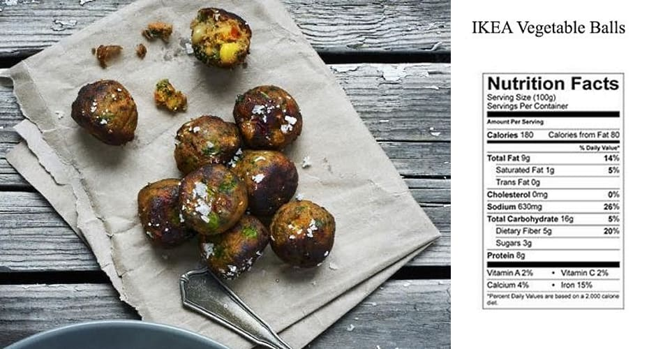 Ikea to start serving vegan meatballs tomorrow first we for Ikea vegetable balls