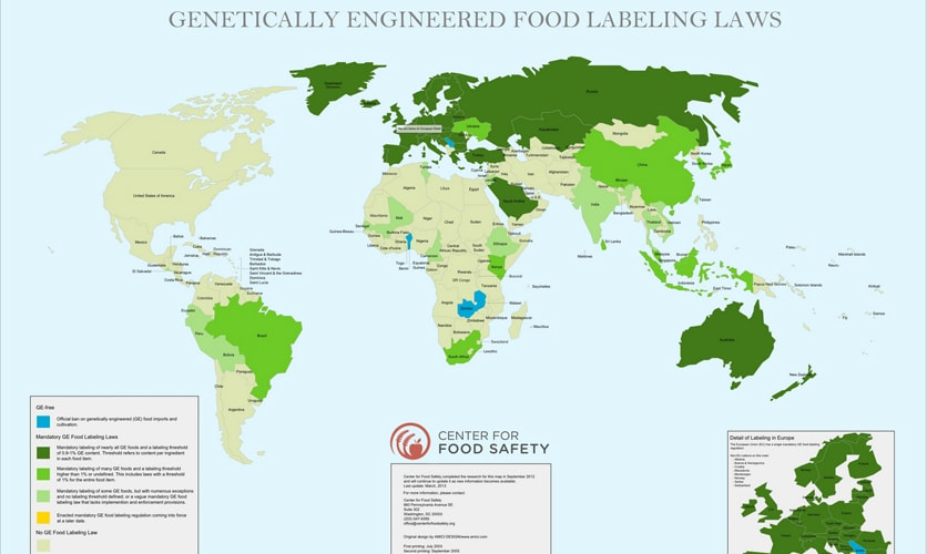 GMO Food Labeling Laws Around The World First We Feast - Fda map of us