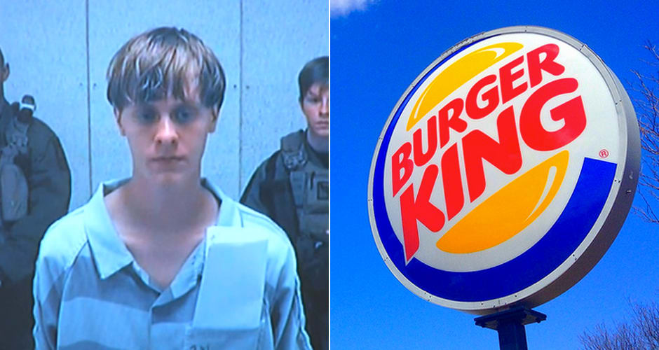 Cops Brought Mass Murderer Dylann Roof Burger King Post