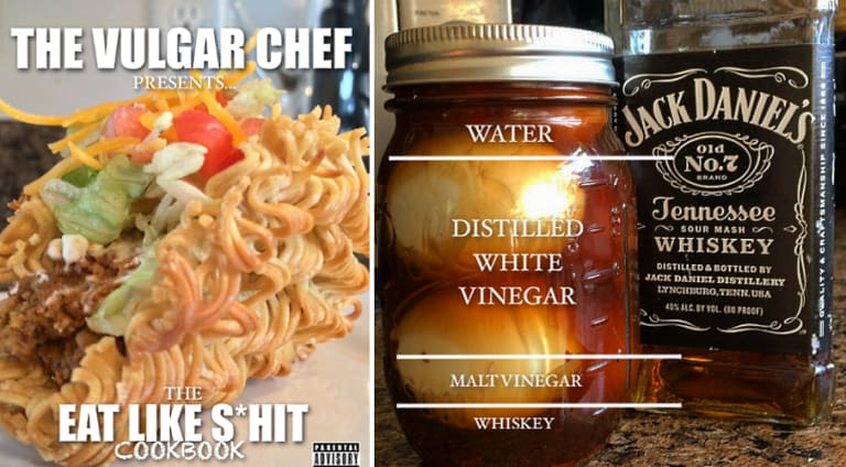 the vulgar chef put out a free downloadable cookbook first we feast