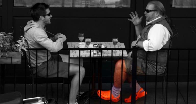 ffbd5f23df Mario Batali Bought 200 Pairs of Orange Crocs | First We Feast