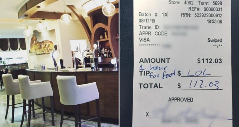 Unhappy Diners Leave Waitress A Lol Instead Of An Actual Tip