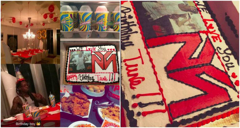 The Self Proclaimed Best Rapper Alive Celebrated His 33rd Birthday This Weekend And Did So With A Menu That Would Make Any Middle Schooler Drool