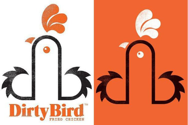 dirty bird fried chicken defends its clearly phallic store logo