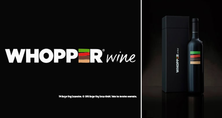 """Image result for Whopper """"Perfect Wine Pairing"""