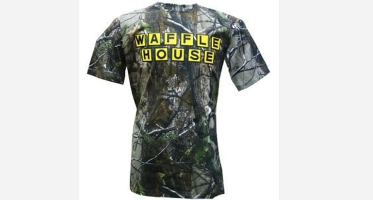 "92598a7f3 This tee is so special that Waffle House was allowed to grace the list  twice. Camo and waffles spells class with a capital ""C."" Get it here:  realtree.com"