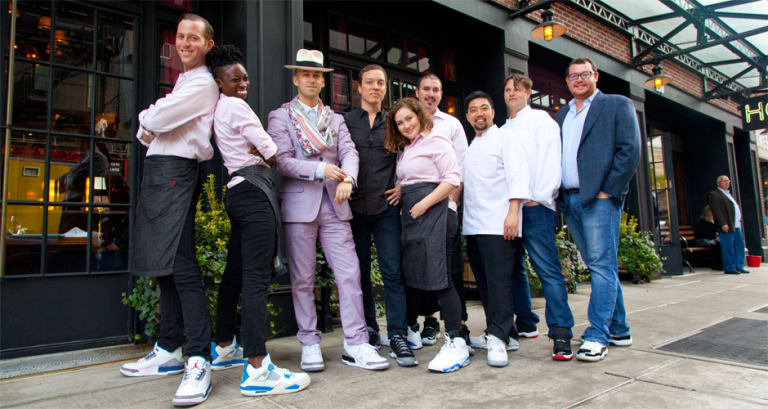 Inside the NYC Restaurant Where All the Servers Wear Air Jordans ... 418b5ccef