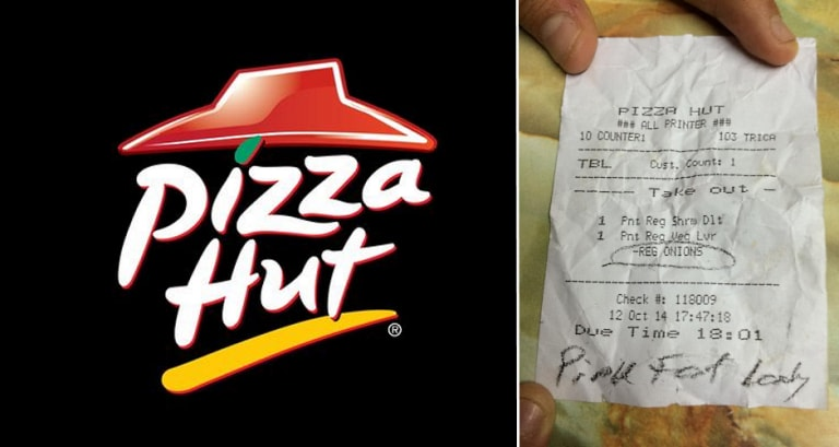 Pizza Hut Singapore Apologizes For Labeling Customer Pink