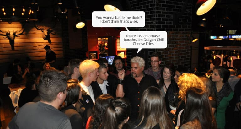 Eavesdropping On Guy Fieri At Guy S American Kitchen And Bar