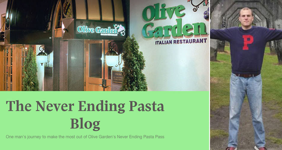 All The Pasta You Can Eat With Olive Garden S Never Ending: Guy With Olive Garden 'Never Ending Pasta Pass' Is