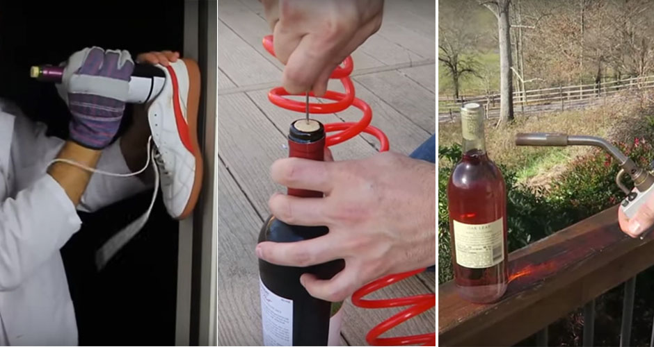 how to drink wine without a corkscrew
