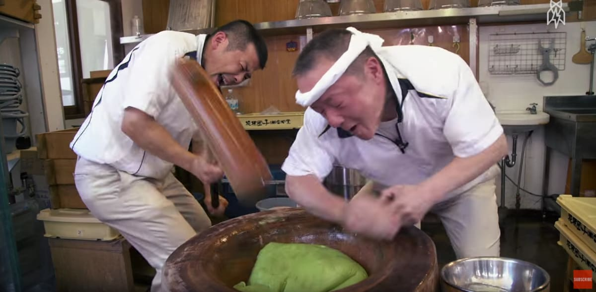 Watch the World's Fastest Mochi Maker Beat the Living Crap