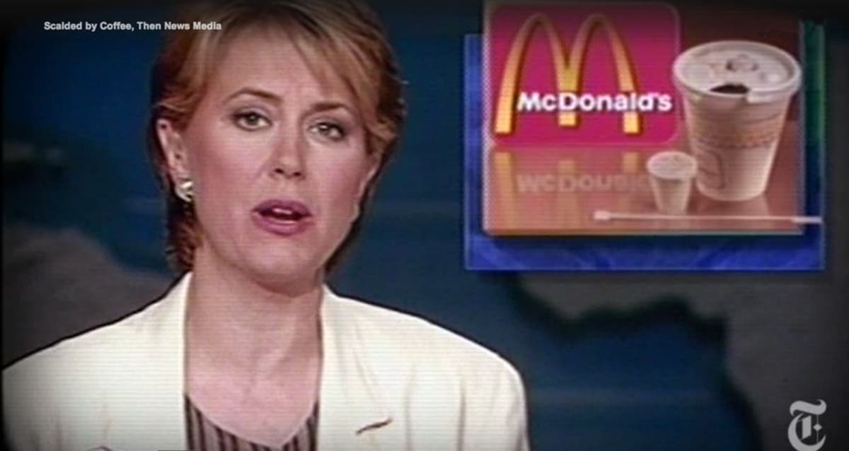 """hot coffee case mc donalds The mcdonald's hot coffee case how many of you have heard of the mcdonald's hot coffee case you know the one where a woman spilled hot coffee on herself and won a """"gazillion dollars"""" from a."""
