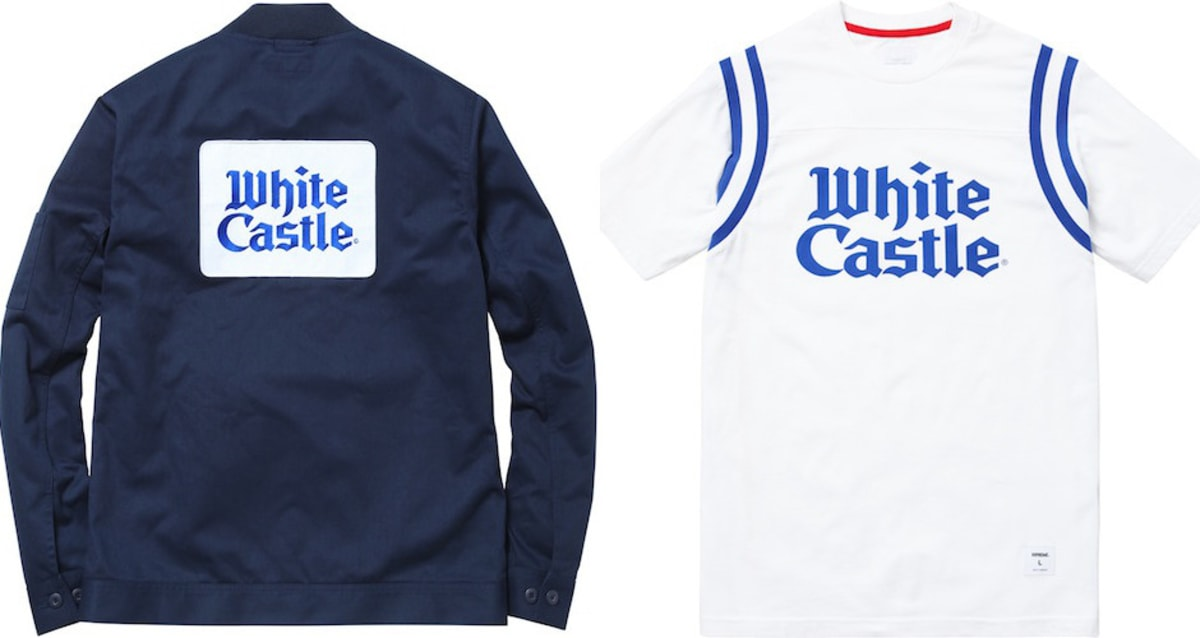 The New Supreme Spring Summer 2015 Collection Includes a White Castle  Collabo  66410f9d0
