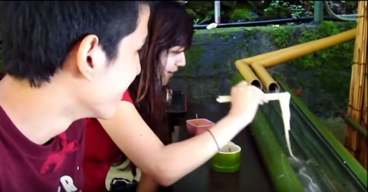 Watch Noodles Flow Out of a Pipe and Into Customers' Mouths at This Restaurant in Japan