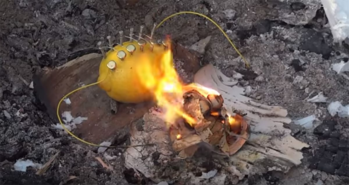 Here's a Hilarious Tutorial About How to Build a Fire With a Lemon