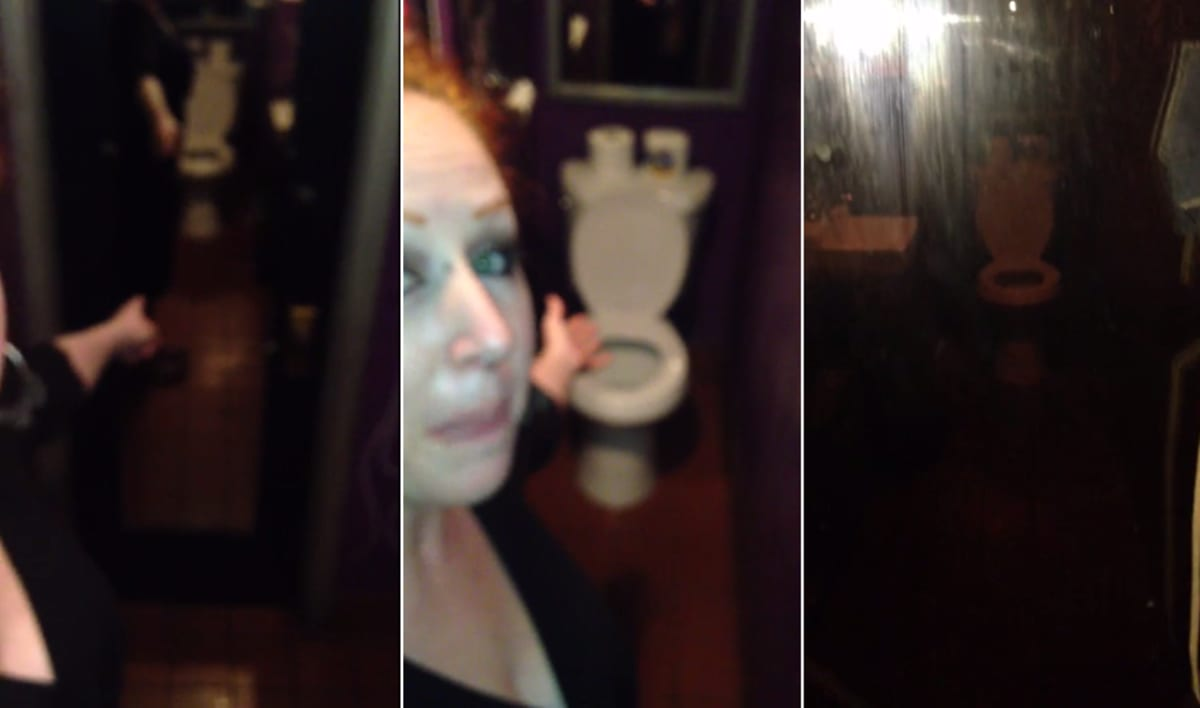Woman discovers two way mirror in bar bathroom bar owner for Two way mirror