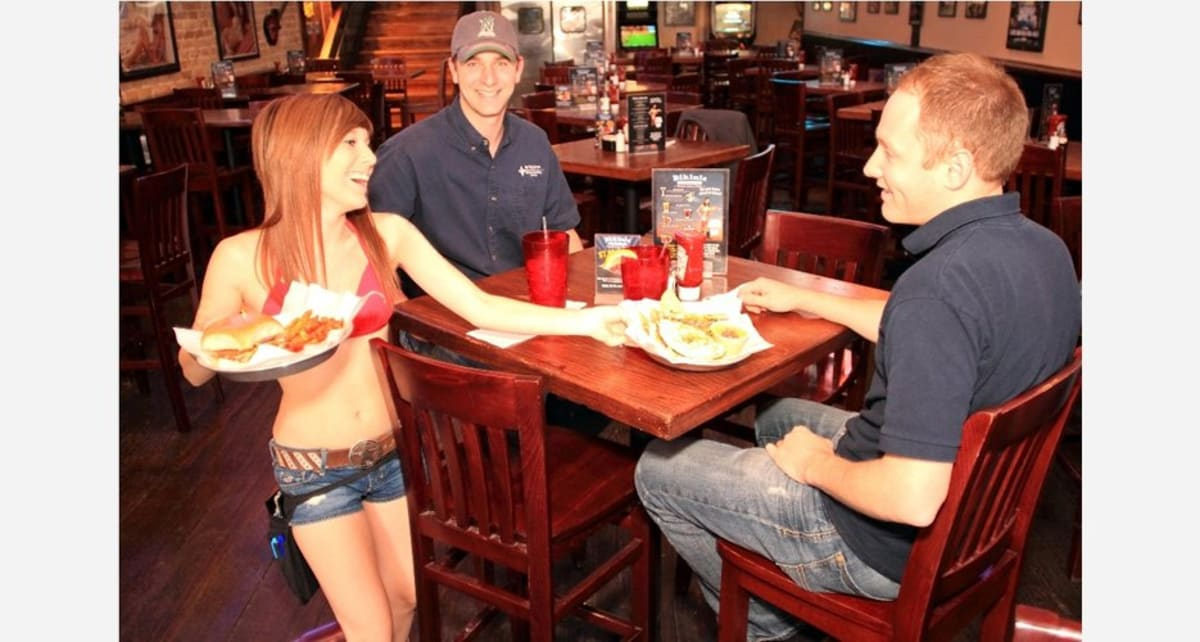 Wild wings waitress and me - 3 2