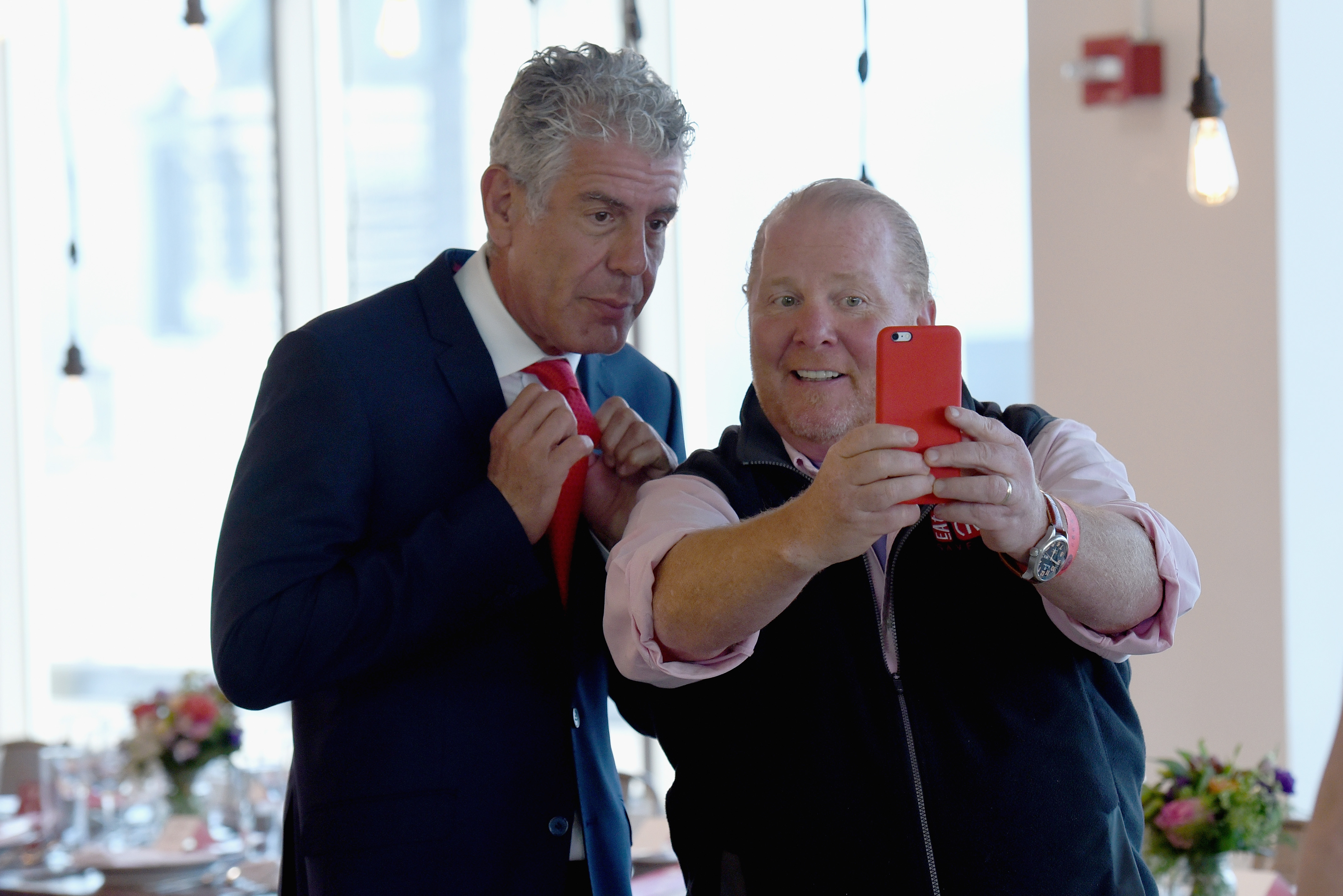 Anthony Bourdain and Mario Batali