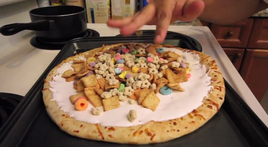 Watch the ghetto chef make cereal pizza first we feast ccuart Choice Image