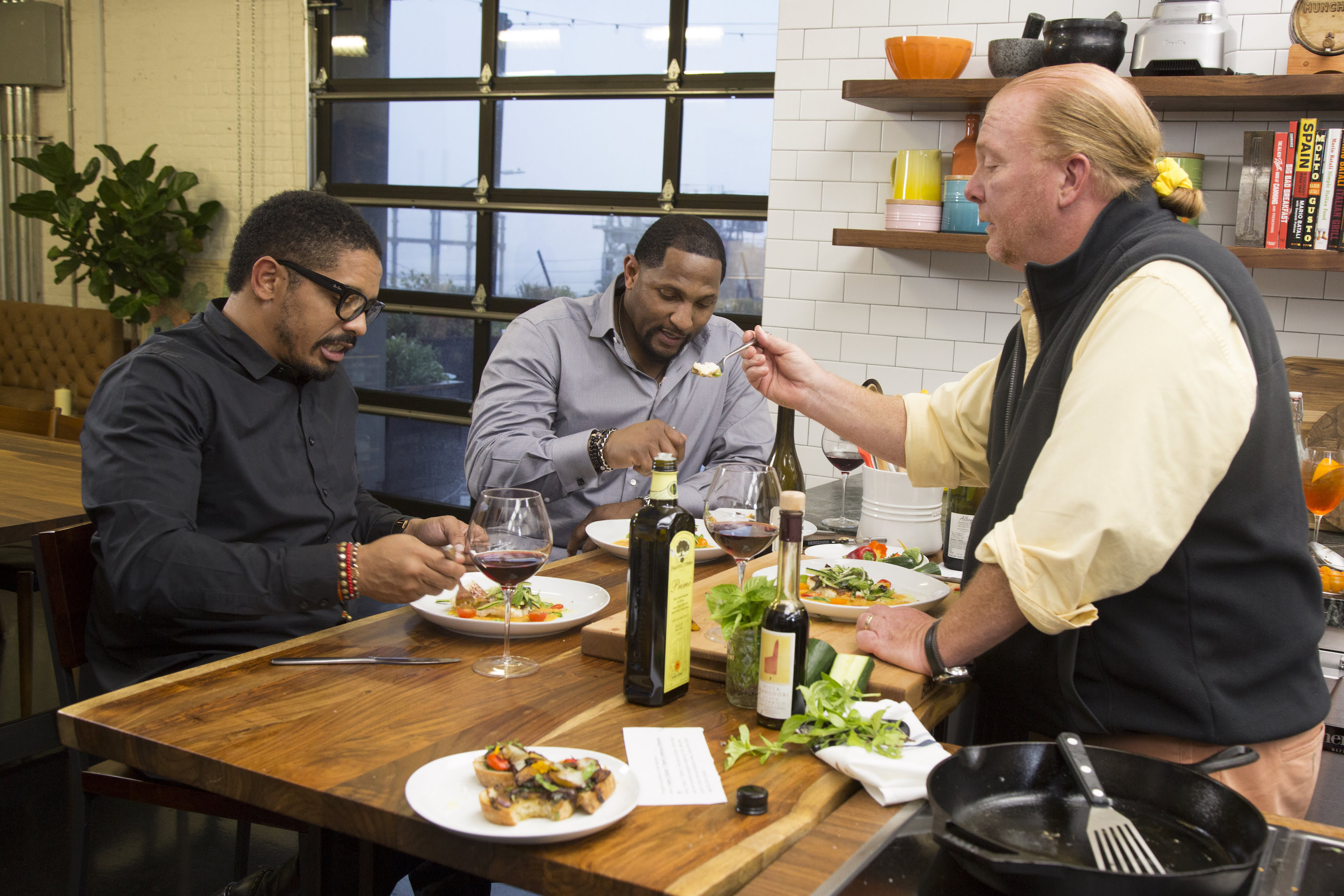 Ray Lewis, Rohan Marley, and Mario Batali