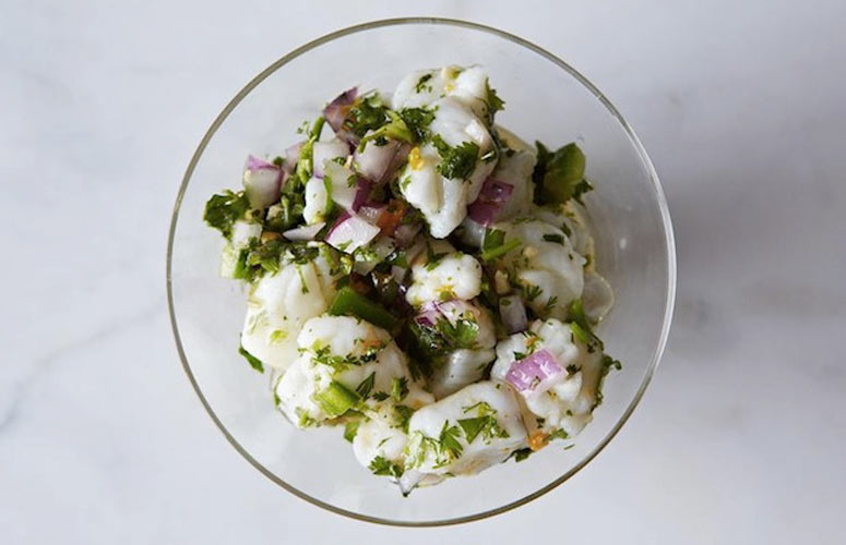 PERU: Peruvian Ceviche. Ceviche is the name for the marinated fish ...