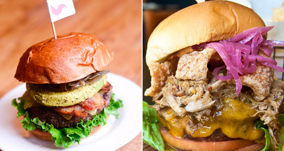 Burgers at Peaches Hot House and Coppelia (photos: Liz Barclay)