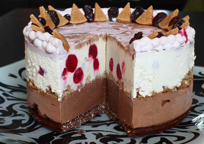 Фото рецепт торта-мороженого