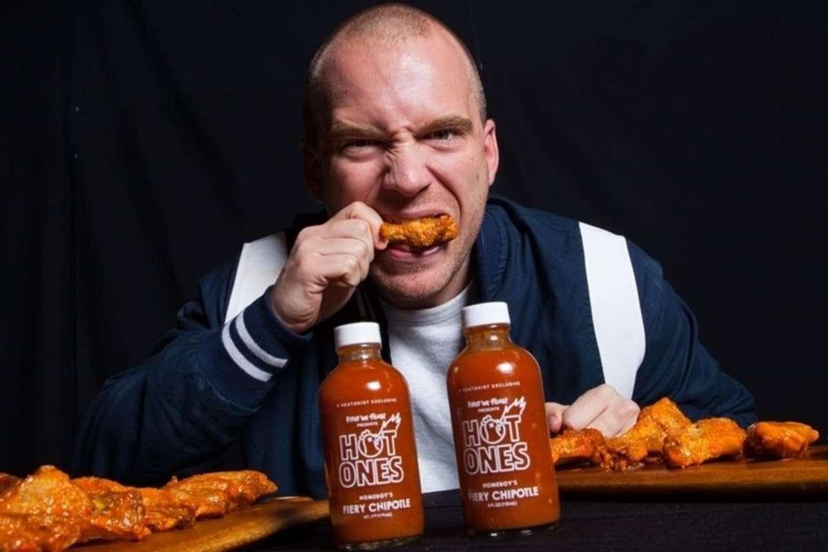 Image result for sean evans hot ones