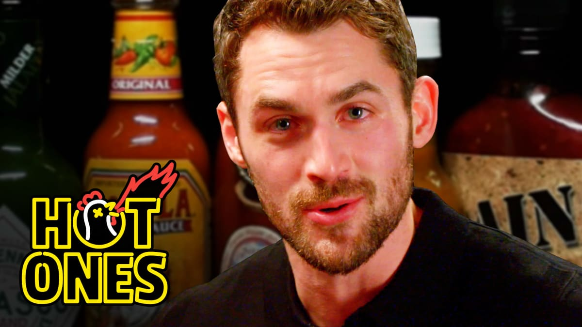 Watch Kevin Love Take On The Hot Ones Challenge First We