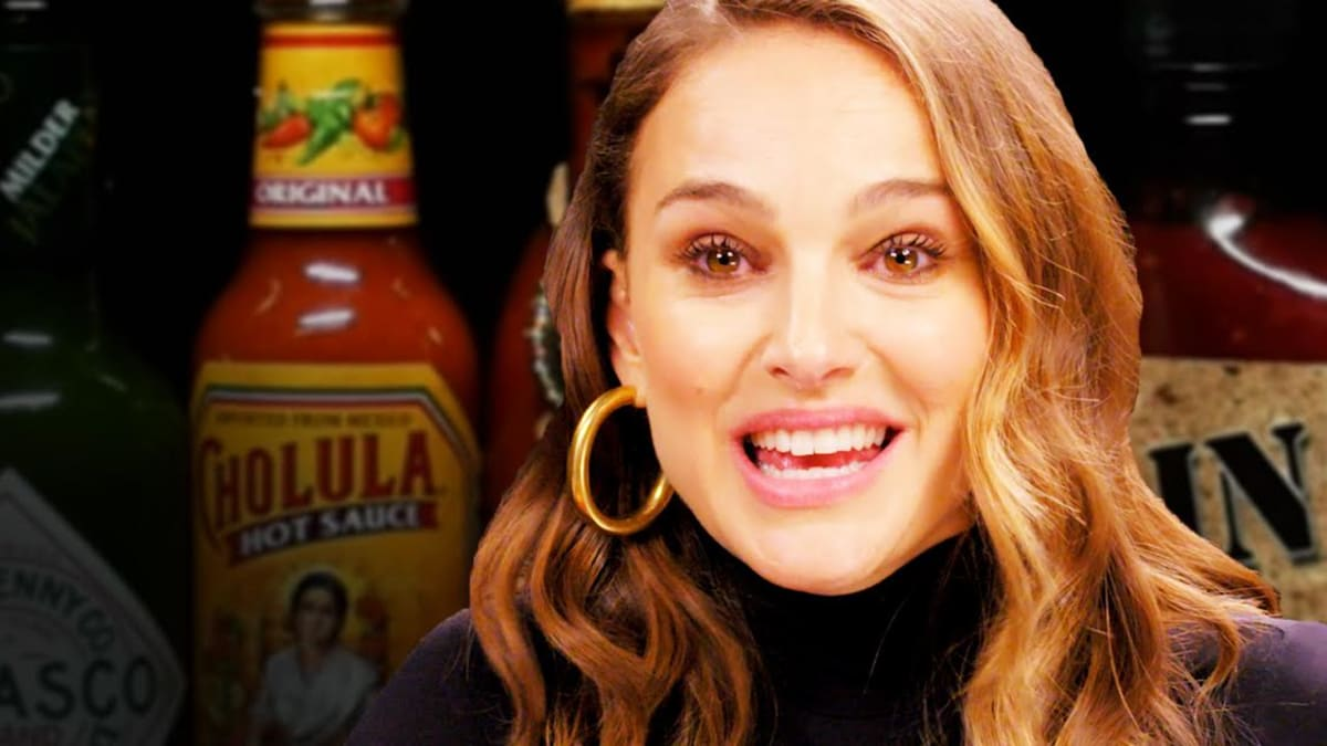849a5a806b0 Watch Natalie Portman Take on the Hot Ones Challenge