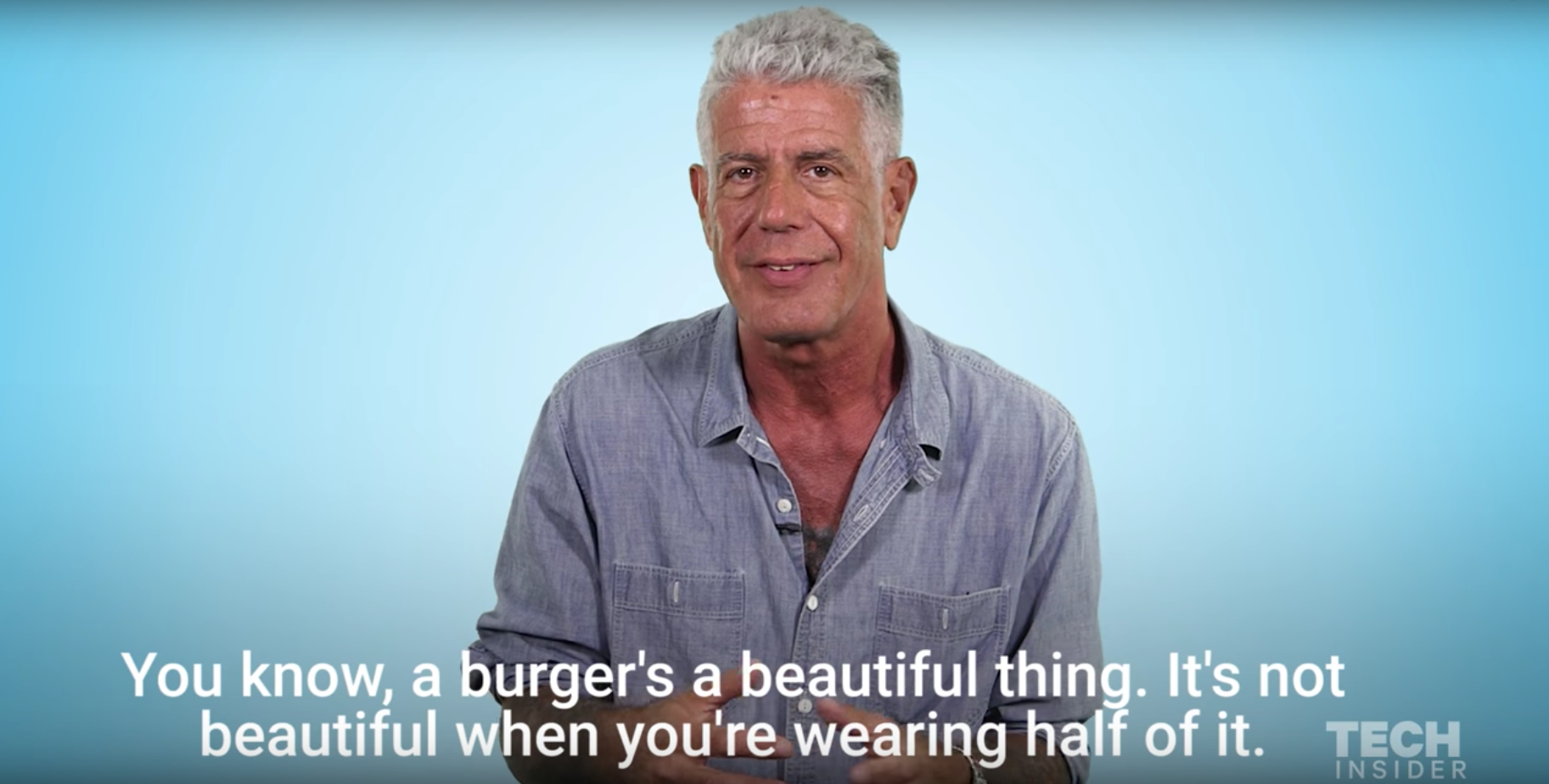 e164e8ee6f Watch Anthony Bourdain Lay Out His 3 Rules For The Perfect Burger