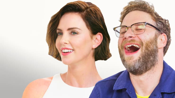 d0062718641 Hot Ones. Seth Rogen Charlize Theron Truth or Dab Thumb No Logo